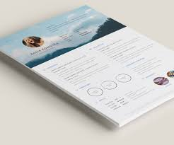 Free Minimalistic Resumecv Illustrator On Behance