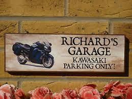 image is loading personalised garage sign motorbike sign kawasaki gift yamaha