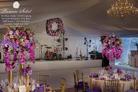 crystal chandelier band crystal chandeliers towering fl arrangements fl wreaths and a band all under this crystal chandelier band