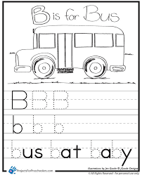 B is for Bus worksheet - Projects for Preschoolers