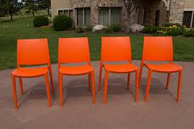 orange plastic chair. The Sensilla Plastic Chair Orange
