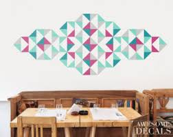 Small Picture Geometric wall decal Etsy