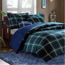 brody in green and blue plaid comforter sets by mizone