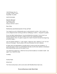 Personal Business Letter Format How To Format Cover Letter