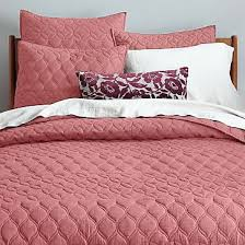 Cotton Quilt Twin Bedding | west elm & Mid-Century Circlet Ogee Quilt, Twin, Wild Rose Adamdwight.com