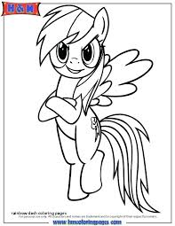 Free My Little Pony Coloring Pages Rainbow Dash Coloring Pages