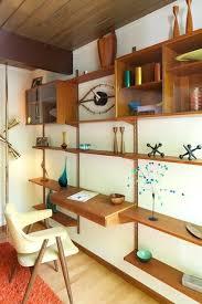 mid century modern shelves diy shelving unit with desk home office
