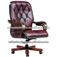 leather antique wood office chair leather antique. Interesting Office Deluxe Vintage Leather Antique Swivel Wood Office Chair With Casters RFB009 In Leather Antique Wood Office Chair
