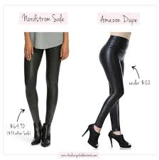 spanx faut leather legging dupe on nordstrom anniversary dupes on the