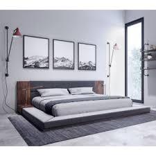 modern bedroom bed. Beautiful Bed Nova Domus Jagger Modern Dark Grey U0026 Walnut Bed For Bedroom A