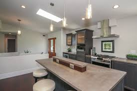 Under Cabinet Outlets Kitchen Kitchen Modern Concrete Countertops Multi Height Huge Island Nice