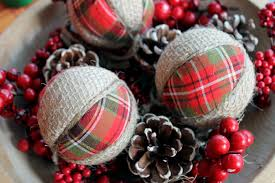 How To Decorate Styrofoam Balls Plaid and Burlap Ornaments The Country Chic Cottage 71