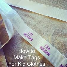 Diy Clothing Label Ever Clever Mom Diy Homemade Tags For Your Kids Clothing