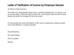 Best Photos Of Employer Income Verification Letter Sample