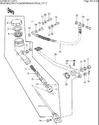broken hearted over kz rear brake forum here s the parts diagram 78 kz1000 rear brake master cylinder the master cylinder piston is part 9 and it has a hollow end and i screwed the tap into