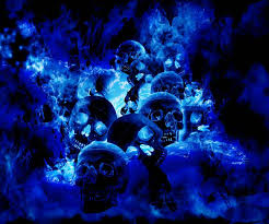 blue skull wallpaper hd