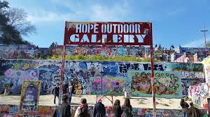 on castle hill wall art with graffiti park at castle hills hope outdoor gallery austin