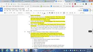 How To Create An Outline And Insert Internal Citations For A Speech