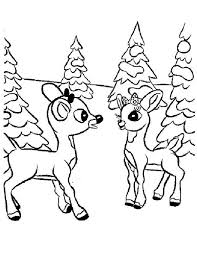 Small Picture Rudolph and Clarice Talking Coloring Page Color Luna
