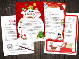 santa thank you letter mailed or digitally delivered