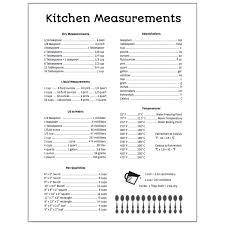 Kitchen Measurements Printable