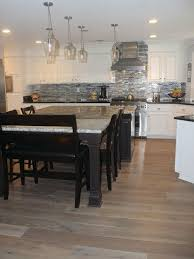 alta vista collection engineered hardwood floors installed in kitchen remodel