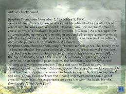 the open boat by stephen crane ppt video online the open boat by stephen crane 2 author s background