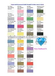 Vivid Colors And High Luster Color Chart For Rayon Viscose Embroidery Thread Buy Color Chart For Clothing Embroidery Thread Color Chart Elegance