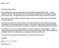 Child Care Reference Letter Babysitter Reference Letter For Job Home