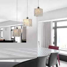 acrylic glass pendant lamp for kitchen with white decoration medium