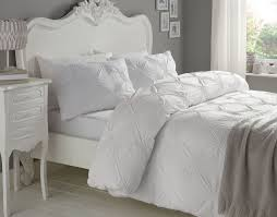 details about ruched circles white 180 thread count 100 cotton super king duvet cover