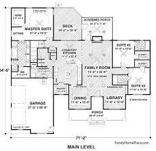 ranch home graphic showing front porch and faux dormers from plan 74834 family home plans