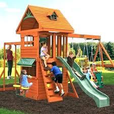 aluminum swing set n slide wood complete redwood sets kits backyard with accessories