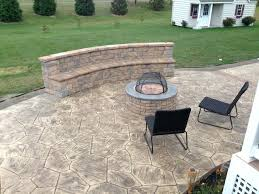 stamped concrete wall stamped concrete patios with seating wall and fire pit patio stamped concrete wall