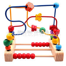 Wooden Bead Game Stunning Baby Kid Count Nimble Education Toy Toddler Wooden Wire Beads Around