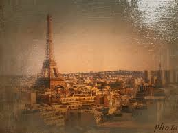 oil paint filter to turn a cityscape into oil drawing