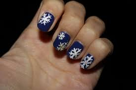 SARA NAIL: Snowflakes Nail Art, Winter Snow nail, easy snow nail art