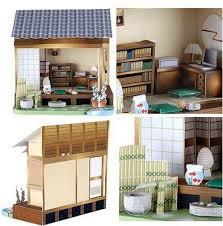 papercraft furniture Japanese Dollhouse Papercraft