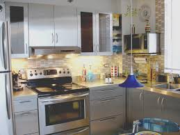 Metal Kitchen Cabinet Doors Stainless Steel Kitchen Cabinet Metal Backsplash Design Kitchen