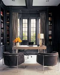 personal office design ideas. dark gray office monique lhuillieru0027s study as seen in elle decor photo by roger davies color for built desk area instead of black personal design ideas l