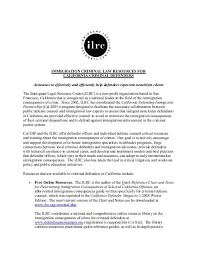Criminal Law Defenses Chart Immigration Criminal Law Resources For Ilrc