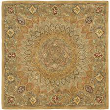 safavieh heritage light brown grey 8 ft x 8 ft square area rug inside top