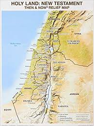 Wall Chart Holy Land Nt Relief Map Rose Publishing