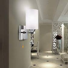 wall sconces for living room. Elitlife E27 Modern Style Wall Light Lamp White Glass Cover Energy Saving Indoor For Bedside Lamp/Stair Lamp/Wall Sconce/Living Room - Pull Chain ON/OFF Sconces Living