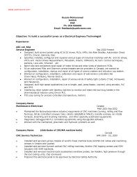 Electrical Engineer Resume Example Http Www Resumecareer Info