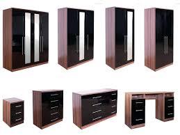 bedroom furniture black gloss. Walnut And White Bedroom Furniture Black Gloss Photo 1 High
