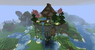 Floating House Plans Awesome Minecraft Houses Mystical Zen House Floating Minecraft