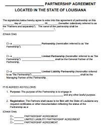 Each individual contributes assets to the business and has a share in the profits and losses of that business. Free Louisiana Partnership Agreement Template Pdf Word Start Your Small Business Today