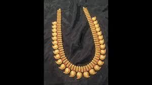 Mango Design Gold Chain Mango Design Gold Haram Necklace Design Manga Malai Design Temple Jewellery