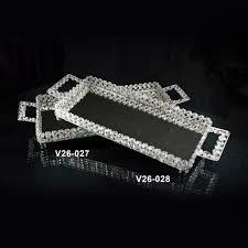 Verdici Design Bombonieres Tray Mirrored W Crystal 16x8x2 25 Bomboniere Gifts